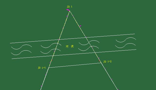 道路中线设计之虚交点法
