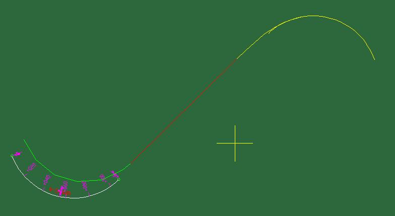 立交路线终点接线设计(直线、缓和曲线)接圆曲线