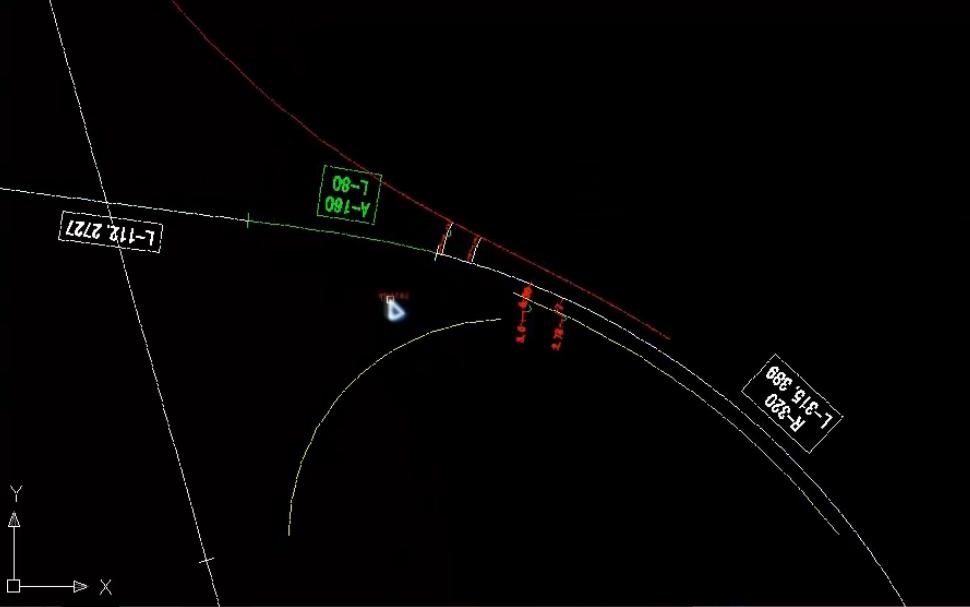 立交匝道线位、端部位置和变速车道长度动态设计