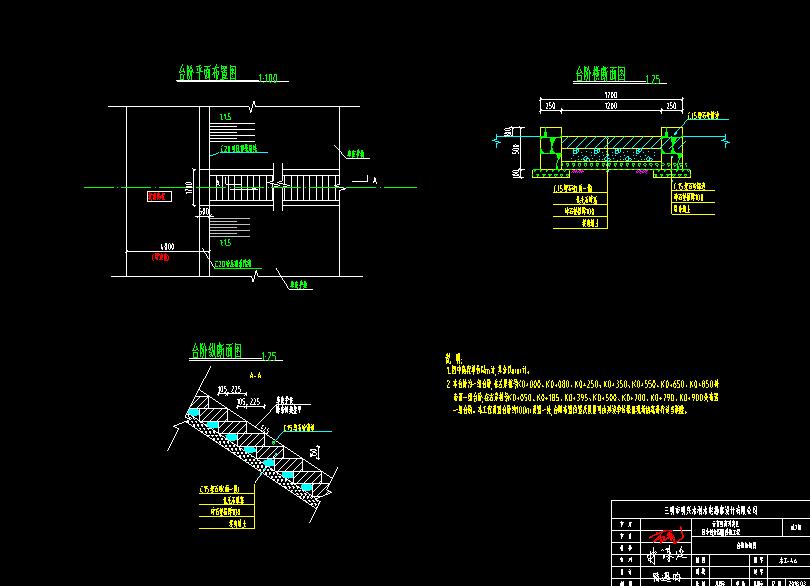 排洪渠全套施工图设计CAD文件