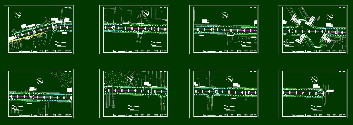 一套城市道路人行道施工图设计