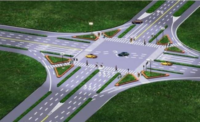鸿业道路设计关于城市道路交叉口进出口展宽设计的讲解