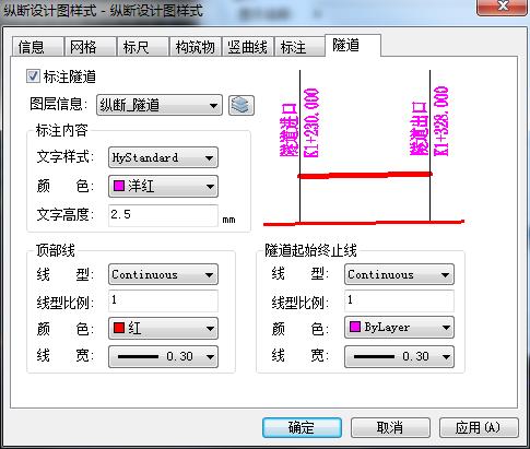 鸿业路易视频教程纵断面图出图样式设置