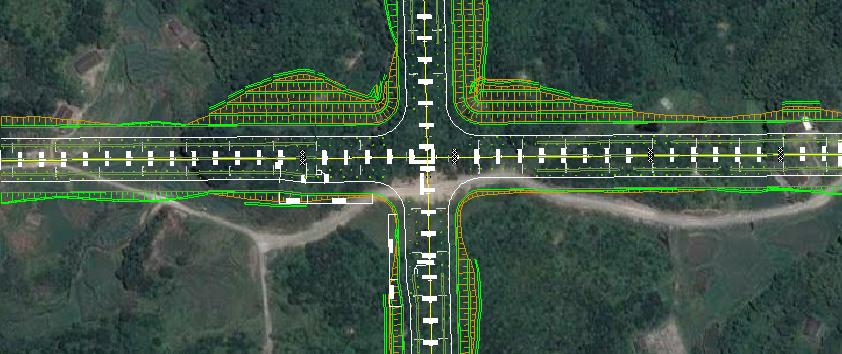 鸿业道路设计交叉口渠化设计方法