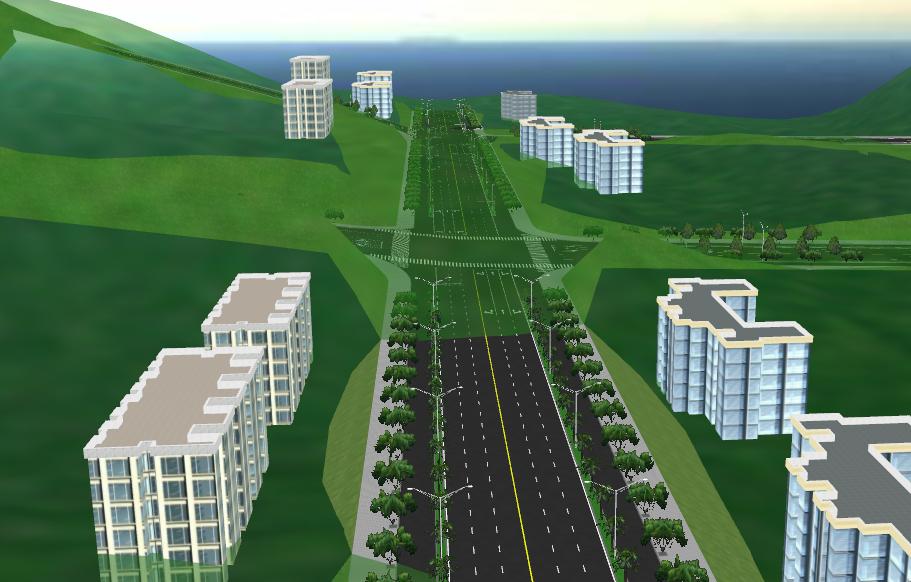 鸿业道路设计视频教程三维漫游地形显示设置方法
