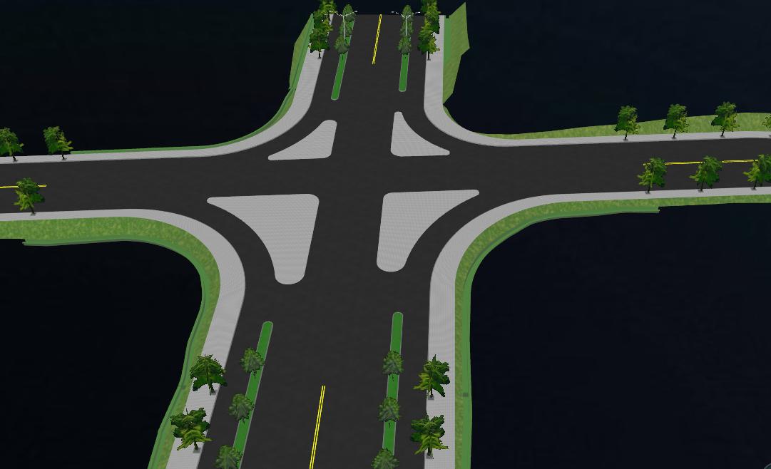 鸿业道路设计交叉口导流岛设计方法