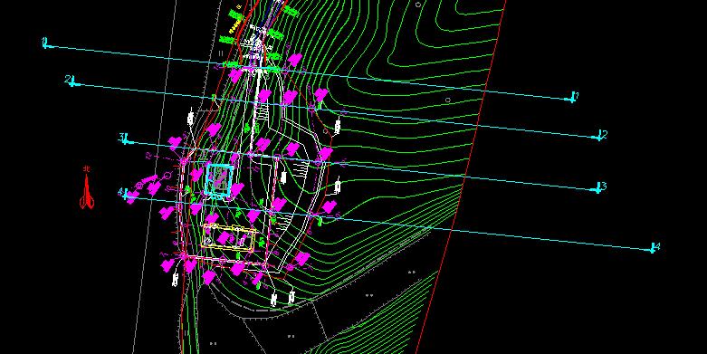 道路设计场地平整边坡设计