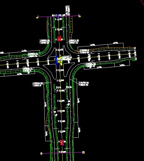 鸿业道路设计中如何按裁图线进行绘图