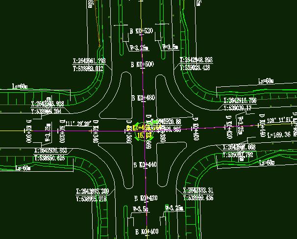 鸿业道路设计交叉口竖向设计方法总结