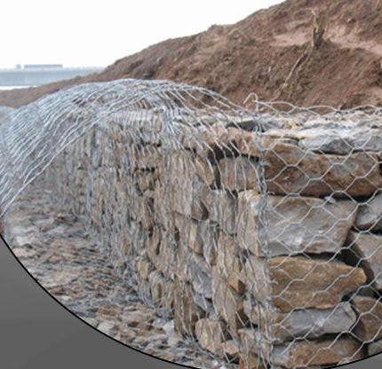 格宾护垫在边坡防护中使用