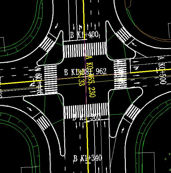 鸿业道路设计中交通标线更新后出现重叠如何修改